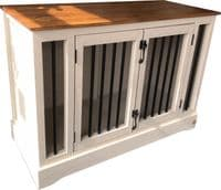 Handmade Wooden Dog Crate With Memory Foam Dog Bed
